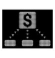 white halftone cashout scheme icon vector image vector image