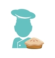 Traditional bakery shop design vector image