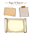 watercolor of paper collection sketch drawing vect vector image