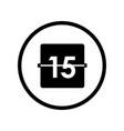calendar icon - iconic desig vector image