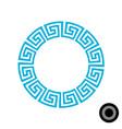 greek round frame pattern vector image