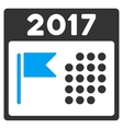 2017 Holiday Calendar Flat Icon vector image