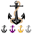 Anchor with Rope vector image vector image