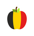 apple belgium flag belgian national fruit vector image vector image