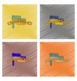 assembly flat shading style icon ukrainian flag vector image