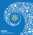 Atom physics sign icon Nice set of beautiful vector image