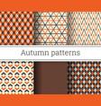 autumn seamless patterns set vector image vector image