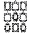 baroque frames set decor detailed rich ornamented vector image vector image