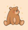 bear cartoon hand drawn style vector image