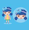 beautiful girl cartoon vector image