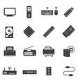big data icons set computer infrastructure vector image vector image