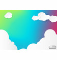blue sky with colorful clouds vector image