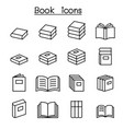 book education icon set in thin line style vector image vector image