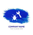 bug fixing icon - blue watercolor background vector image