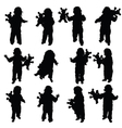 child with toy vector image vector image