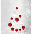christmas card with tree in shape balls vector image