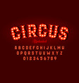 circus style font design vector image vector image