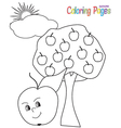 ColoringBookApple vector image