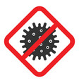 coronavirus caution sign vector image vector image