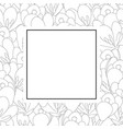 crocus flower outline banner card vector image vector image
