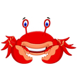 cute crab cartoon look at camera vector image vector image