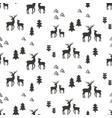 deers seamless pattern vector image