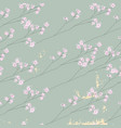 delicate floral cherry blossom pattern on vintage vector image vector image
