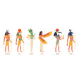 egypt gods ancient authentic characters fairytale vector image vector image