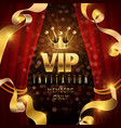 elegance and exclusive party invitation vector image