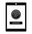 fingerprint password icon simple style vector image vector image