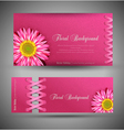 flowers template design element vector image vector image