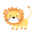 funny kids print lion vector image vector image