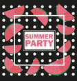 funny summer unusual background with vector image vector image
