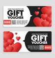 gift voucher coupon discount for happy valentines vector image vector image