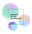 gradient colorful style neone shapes fluid vector image