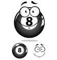 Gray eight pool ball character vector image