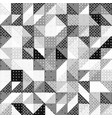 halftone seamless pattern with triangle shapes vector image vector image