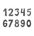 hand drawn numbers in scandinavian boho style
