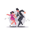 happy couple guy and girl dancing vector image
