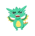 Little Anime Style Baby Dragon Angry In Offence vector image vector image