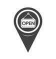 map pointer open icon vector image
