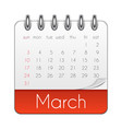 march 2019 calendar leaf template vector image