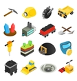 Mining isometric 3d icons vector image vector image