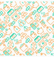 money seamless pattern with thin line icons vector image vector image