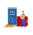 online wallet e commerce flat vector image