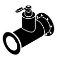 pipe water icon simple black style vector image vector image