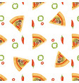 pizza seamless pattern piece vector image vector image