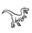 Prehistorical dino Logo concept Raptor insignia vector image vector image