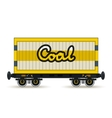 Railway Wagon for Coal Isolated on White vector image vector image