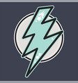 retro thunderbolt badge vector image